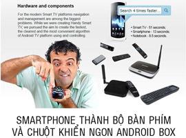 Dùng smartphone thay thế chuột và bàn phím cho tất cả các thiết bị Android box