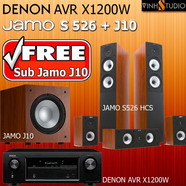 bộ dàn 5.1 Denon AVR X1200W + Jamo S526 HCS + Jamo J10