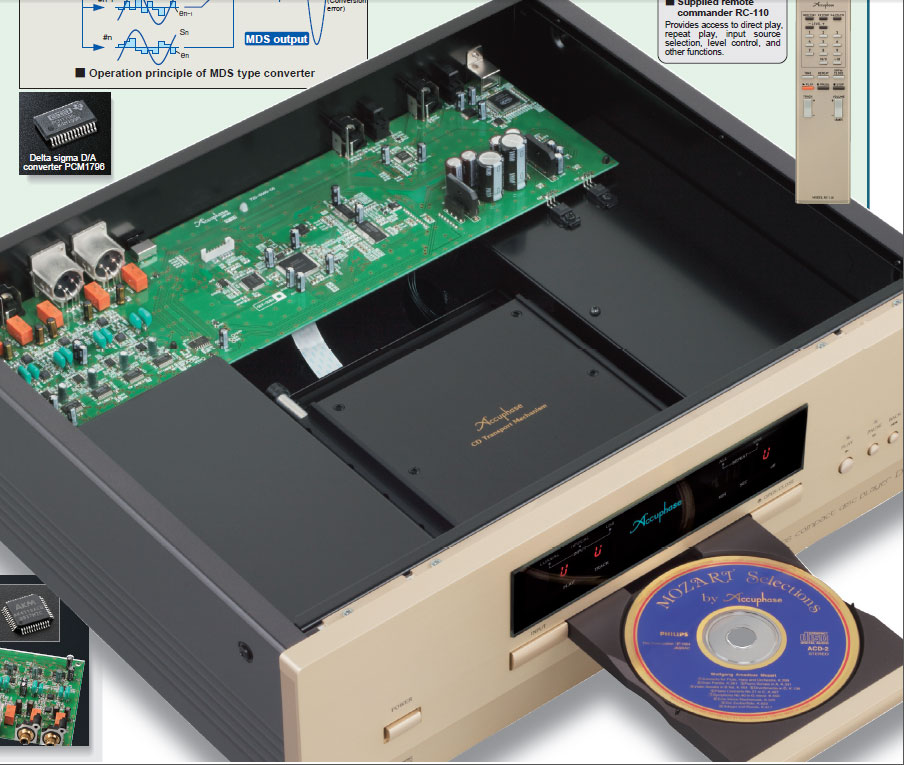Accuphase DP-410 dau cd player gia re  tong the