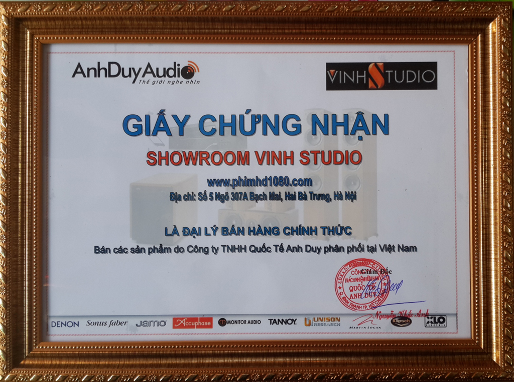 vinhstudio dai ly anhduy audio tai ha noi