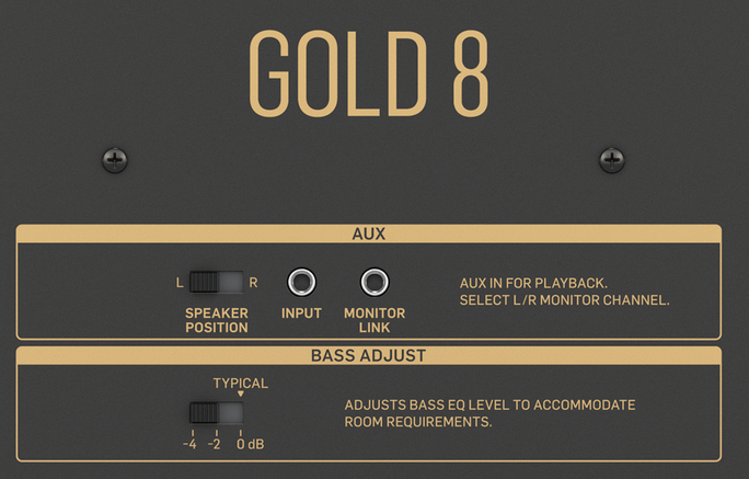tannoy gold 8 input